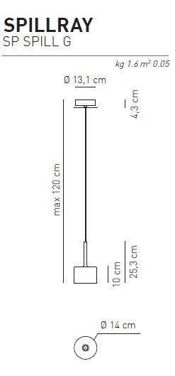 AXO Light Spillray SP G Zwis  przezroczysty 14 cm