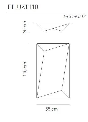 AXO Light Ukiyo PL 110 nowoczesna Lampa Sufitowa biała 110 cm