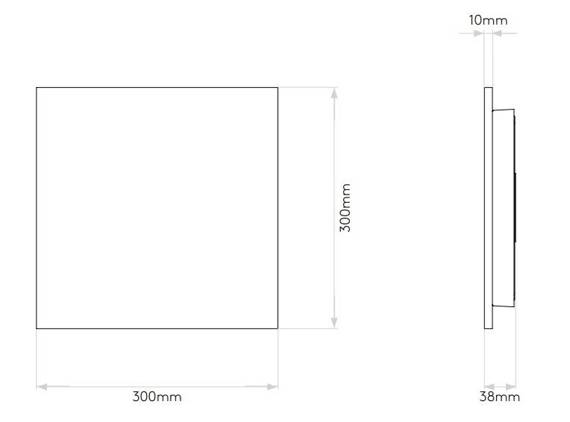 Astro Eclipse Square 300 7610 Kinkiet