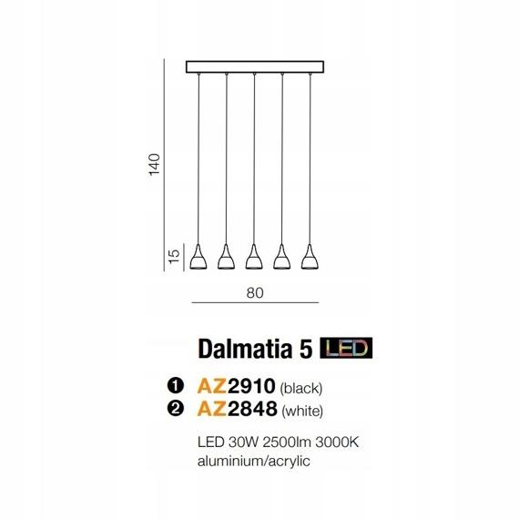 Azzardo Dalmatia 5 AZ2910 Lampa wisząca
