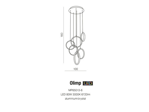 Azzardo Olimp MP65013-6  Lampa Led