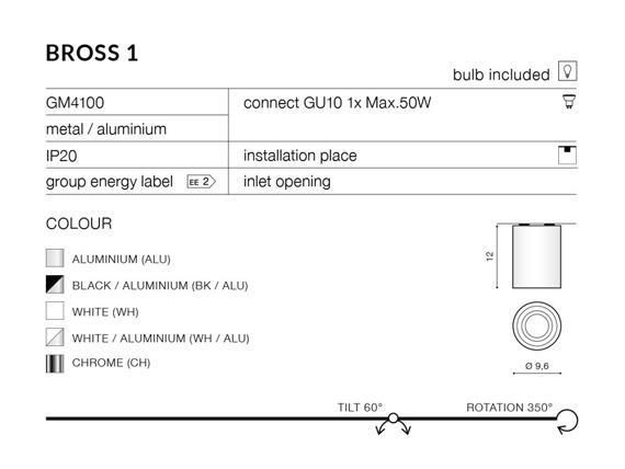BROSS 1 BK/BK Azzardo  GM4100 BK/BK Spot