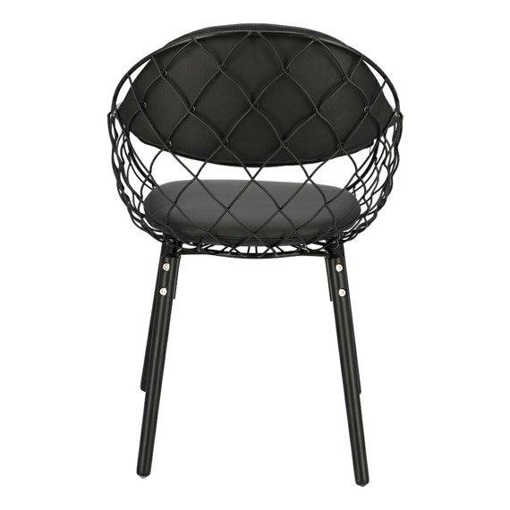 Czarne krzesło Jahi w stylu skandynawskim