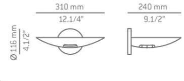 ESTILUZ A-6007 Lampa Ścienna nikiel