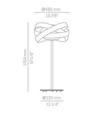 ESTILUZ Siso P-2998 Lampa Stojąca biały