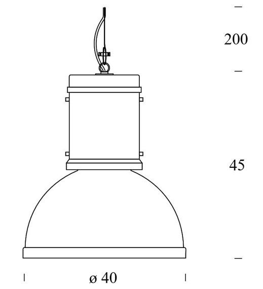 Fontana Arte Lampara 5000/2AN lampa wisząca