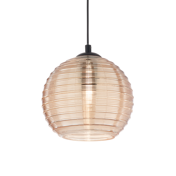 Ideal Lux Riga SP1 Lampa zwisająca bursztynowa duża