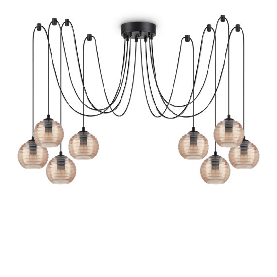 Ideal Lux Riga SP8 Lampa zwisająca bursztynowa