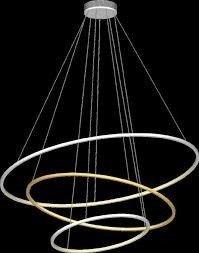 Lampa Wisząca Ledowa Ramko Echo 67761 Ring LED kolor czarny