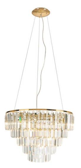 Lampa Wisząca Maxlight Kryształowa Złota Monaco P0424