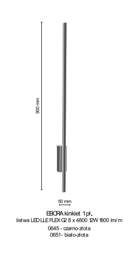 Lampa ścienna Amplex Ebora 0651