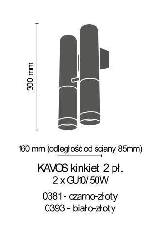 Lampa ścienna Amplex Kavos 0381