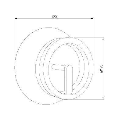 Lampa ścienna Pujol Circular A-204 B