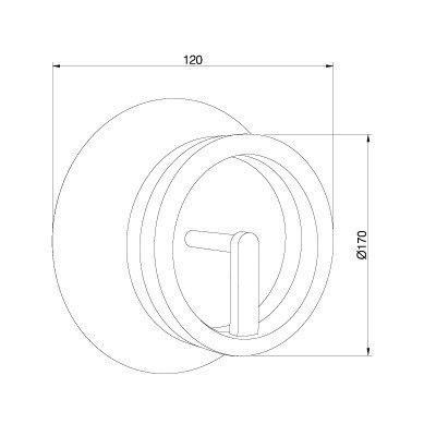 Lampa ścienna Pujol Circular A-204 Nm
