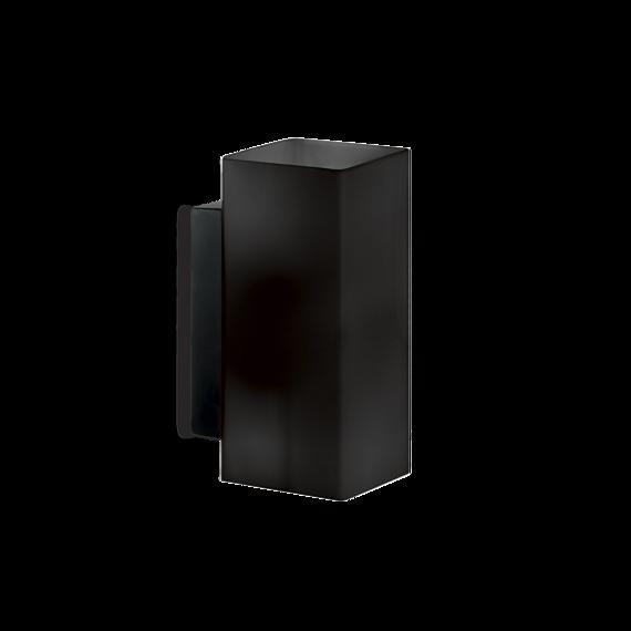 Lampa ścienna prosta czarna Ideal Lux Paul AP2 Square