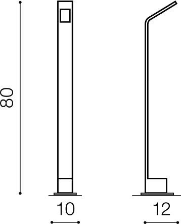 Lampa stojąca ogrodowa Azzardo Agape 80 AZ3483