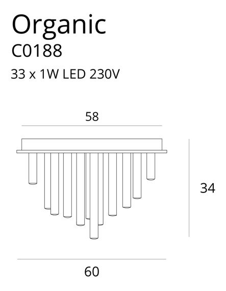 Lampa sufitowa w glamour MaxLight Organic C0188