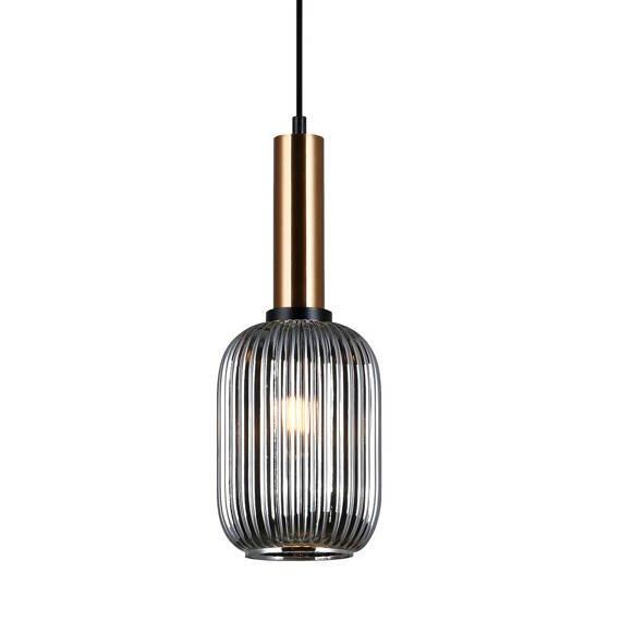 Lampa wisząca Italux Antiola mosiądz PND-5588-1M-BRO+SG