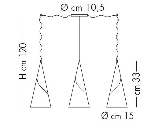 Lampade Italiane ALBACHIARA SP 1016/3X15 satynowy Zwis