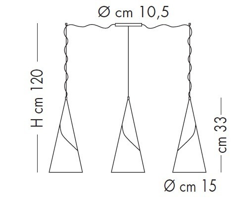 Lampade Italiane ALBACHIARA SP 1016/3x15 brązowy Zwis