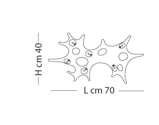 Lampade Italiane BAOBAB LP 1057/40 antracyt Plafon/Kinkiet