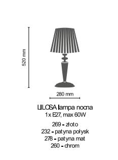 Lampka Nocna Amplex LILOSA