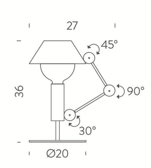 Lampka biurkowa MR. LIGHT SHORT