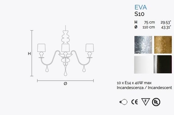 MASIERO Eva S10 Żyrandol biała