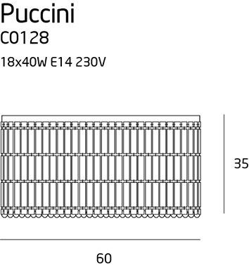 Maxlight Puccini Plafoniera C0128