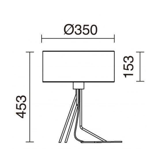 Novolux Exo Diagonal 855C-G05X1A-37 Lampa stołowa