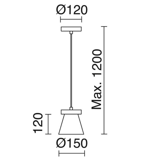Novolux Exo Żyrandol Beton 683A-G04X1A-03