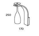Nowoczesna lampa ścienna Pujol Brindis A-128 C