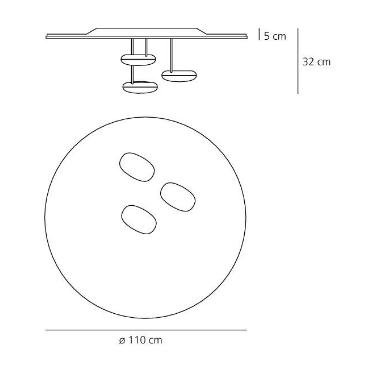 Nowoczesna lampa sufitowa Artemide Droplet 1474110A