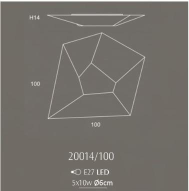 OLE HALLEY 20014/100 Lampa Sufitowa