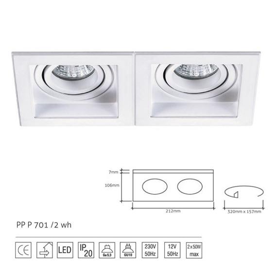PP Design 701/2 WH Oprawa Wpuszczana