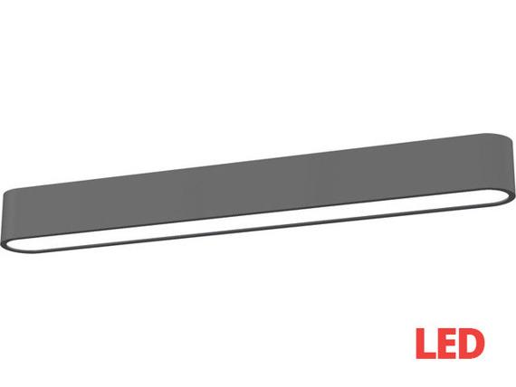 Plafon SOFT LED graphite 60x6 plafon 9537 Nowodvorski