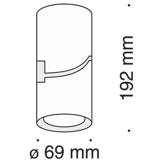 Reflektor kierunkowy Maytoni Tube  C019CW-01W Biały
