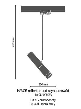 Reflektorek do szyny Amplex Kavos 0389