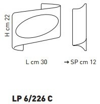Sillux ATENE LP 6/226 C bursztynowy/miedziny 30 x 22 cm Lampa Ścienna