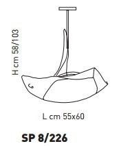 Sillux ATENE SP 8/226 bursztynowy/miedziany 55 x 60 cm Zwis