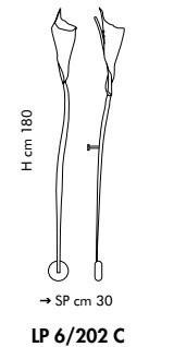 Sillux KINGSTON LP 6/202C miedziana Lamap Ścienna 180 cm