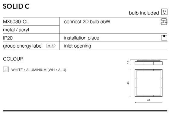 Solid C MX5030-QL Plafon Azzardo
