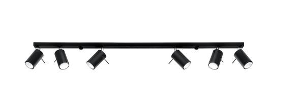 Sollux Lighting Ring 6 czarny SL.0334 Plafon