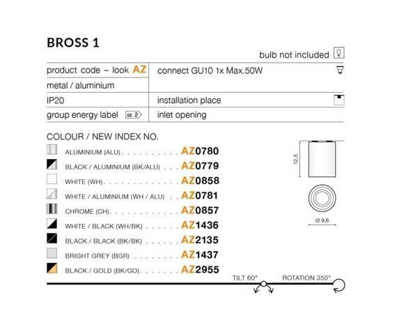 Spot Azzardo BROSS 1 AZ0780 ALU