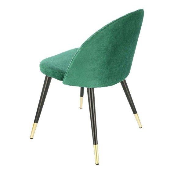 Welurowe krzesło w kolorze zieleni Kotte Velvet