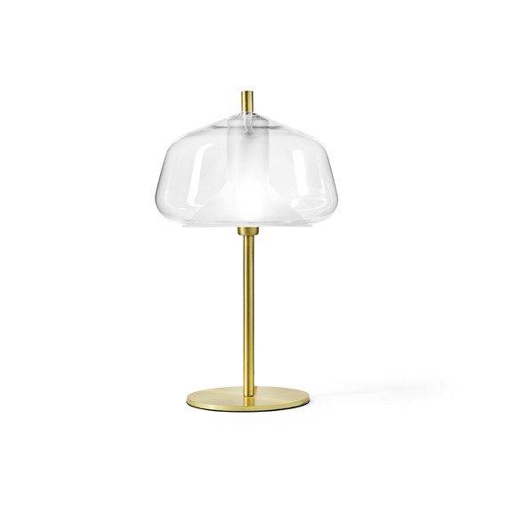 Złoto - transparentna Lampka stojąca Miloox X-Ray