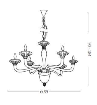 Żyrandol Ideal Lux Brigitta SP8