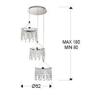 Żyrandol Schuller Anastasia 568672 LED