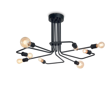 Ideal Lux Triumph PL8 Plafon w stylu loft czarny